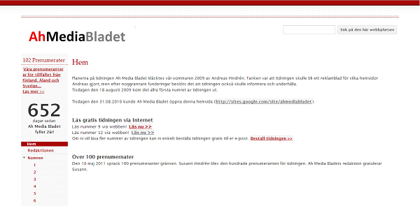 webbsida gratis update